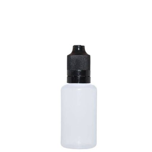 30ml plastik flaske til ejuice og evæsker - genopfyldelig