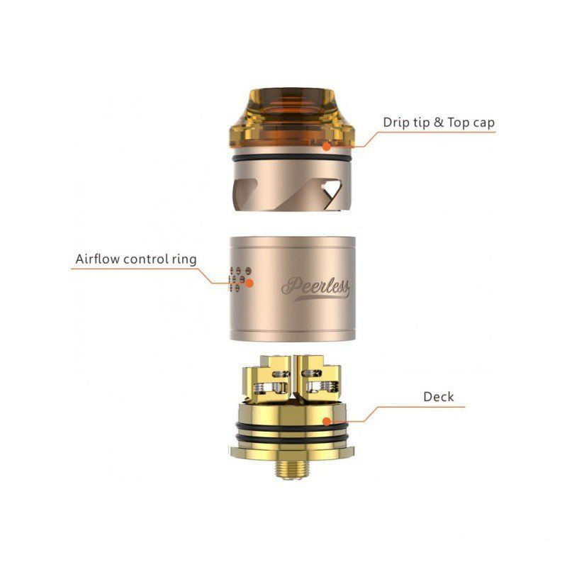 GeekVape Peerless RDA Tank - Airflow and deck