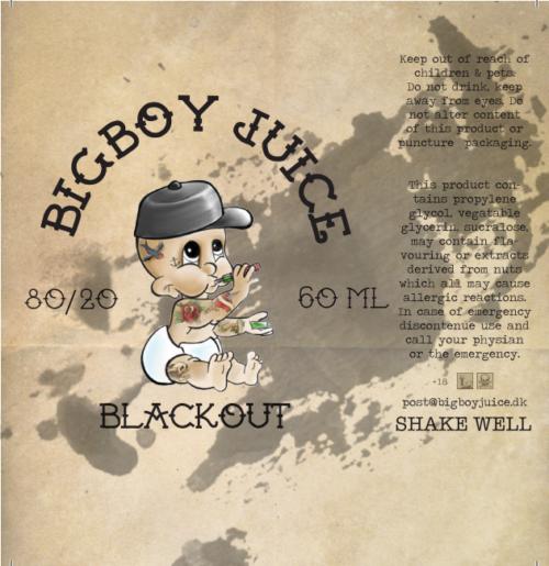 Big boy juice - Blackout - 60ml
